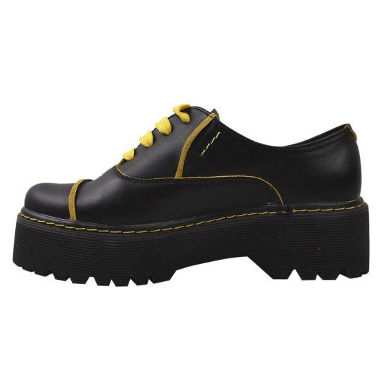 Туфлі жіночі Maxus Shoes натуральна шкіра, колір чорний