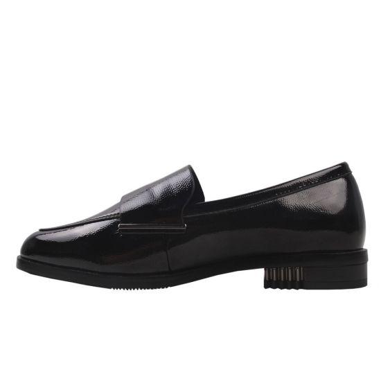 Туфлі жіночі еко шкіра, колір чорний