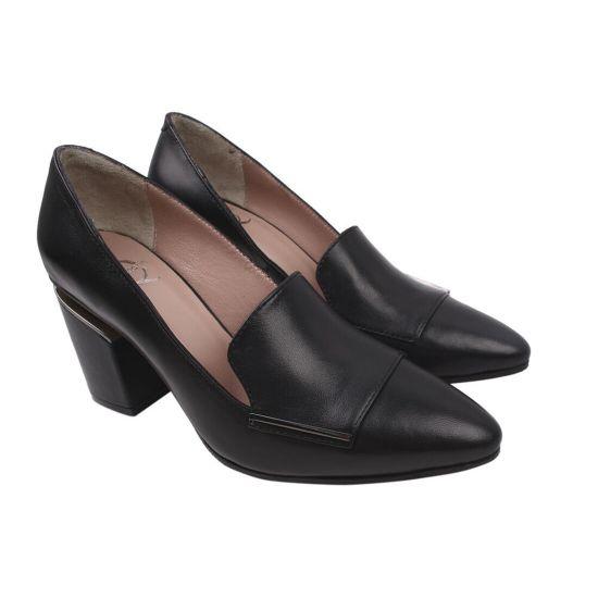 Туфлі жіночі Aquamarin натуральна шкіра, колір чорний