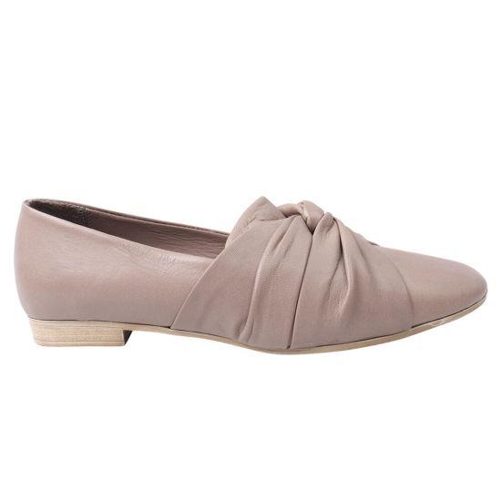 Туфлі жіночі з натуральної шкіри, на низькому ходу, колір капучино, Bueno