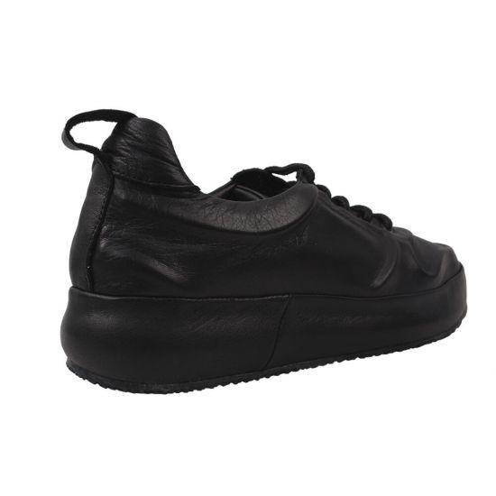 Кросівки жіночі Aquamarin натуральна шкіра, колір чорний