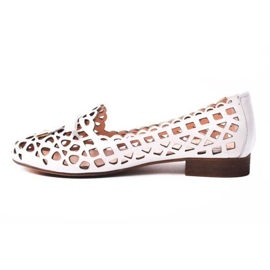 Туфлі комфорт Euromoda натуральна шкіра, колір білий