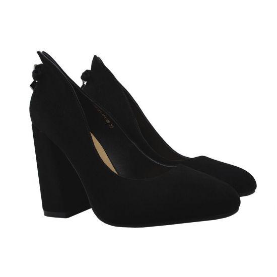 Туфлі жіночі Lady Marcia Натуральна замша, колір чорний