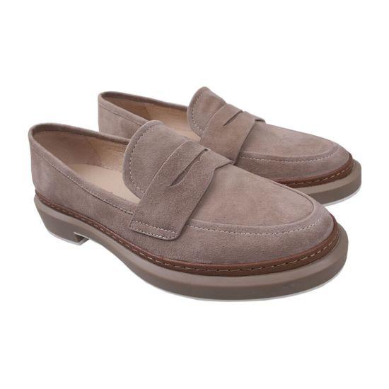 Туфлі жіночі Beratroni Натуральна замша, колір бежевий