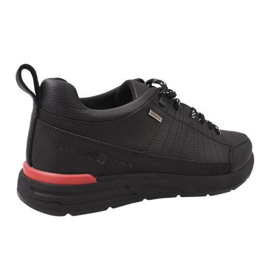 Кросівки чоловічі з натуральної шкіри, на низькому ходу, на шнурівці, чорні, Україна Brave