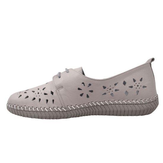 Туфлі жіночі Gossi натуральна шкіра, колір сірий