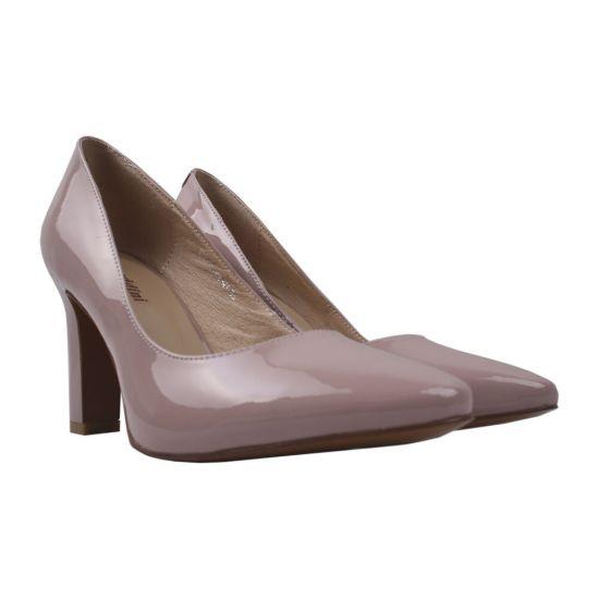 Туфлі жіночі Лакова натуральна шкіра, колір рожевий