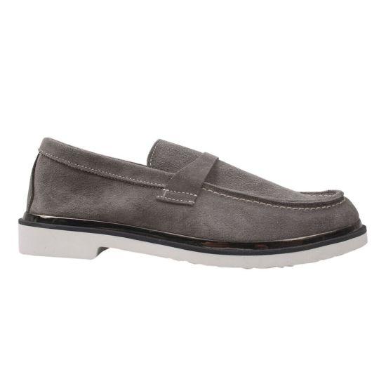 Туфлі жіночі Натуральна замша, колір сірий