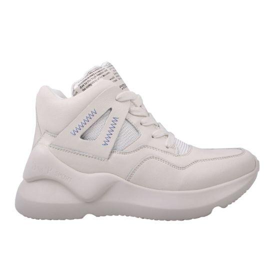 Кросівки жіночі з натуральної шкіри, на платформі, білі Gifanni