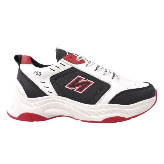 Кросівки чоловічі з натуральної шкіри, на низькому ходу, на шнурівці, білі, Україна Konors