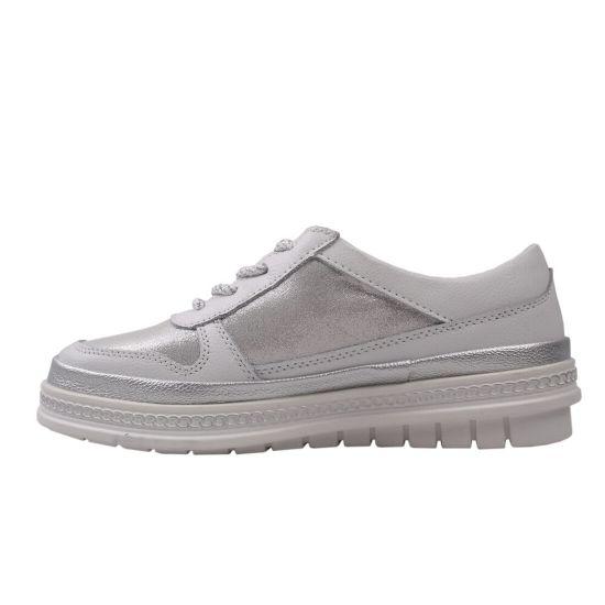 Туфлі комфорт жіночі Renzoni натуральна шкіра, колір білий