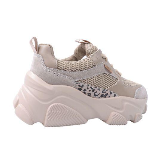 Кросівки жіночі з натуральної замші, на платформі, бежеві, Li Fexpert 531-20/21DK