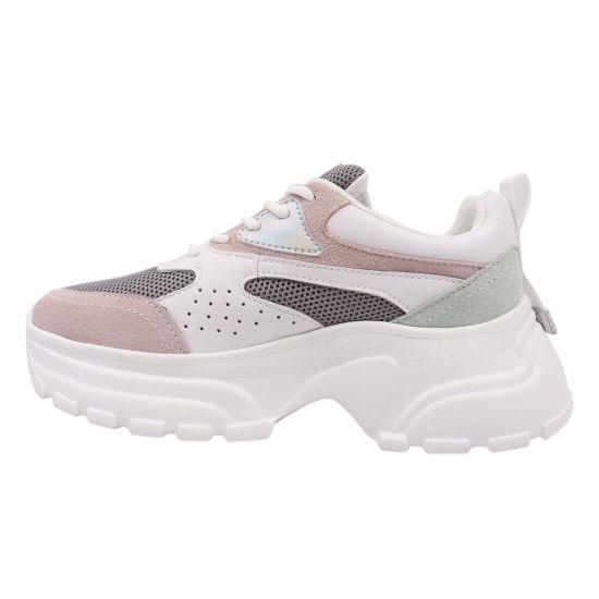 Кросівки жіночі з натуральної замші, на низькому ходу, на шнурівці, білі, Li Fexpert 604-21DK