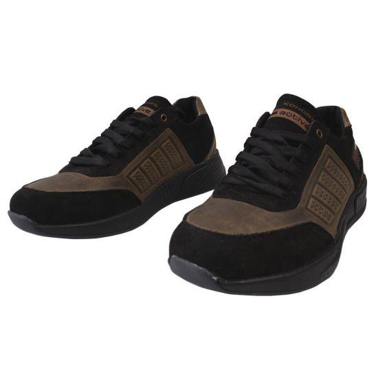 Туфлі спорт чоловічі Нубук, колір чорний