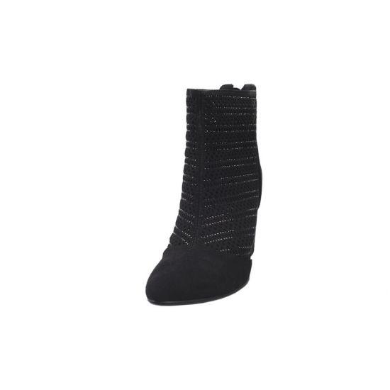 Ботильйони жіночі Liici еко замш, колір чорний 85-20DH