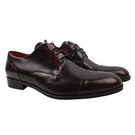 Туфлі Fabio Conti натуральна шкіра, колір бордо