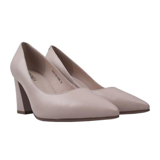 Туфлі жіночі Geronea натуральна шкіра, колір бежевий
