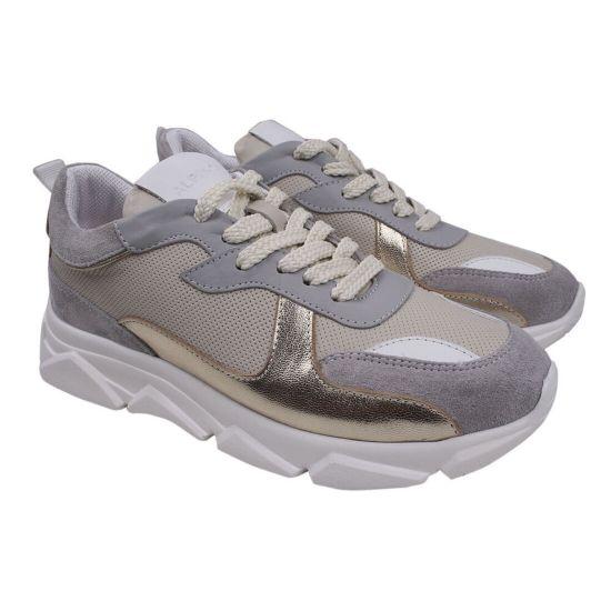 Кросівки жіночі Alpino натуральна шкіра, колір сірий