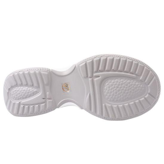 Кросівки жіночі з натуральної шкіри, на платформі, на шнурівці, сірі, Vikonty