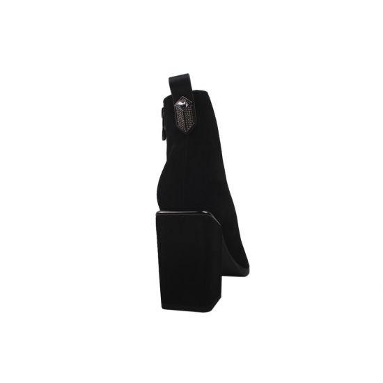 Ботильйони жіночі Vidorcci Натуральна замша, колір чорний