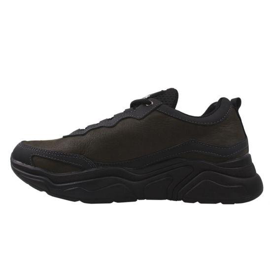 Туфлі спорт чоловічі натуральна шкіра, колір хакі