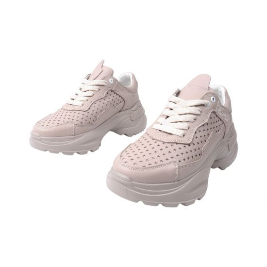 Кросівки жіночі з натуральної шкіри, на платформі, бежеві, Україна Best Vak