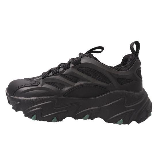 Кросівки жіночі з натуральної шкіри, на низькому ходу, на шнурівці, чорні, Li Fexpert