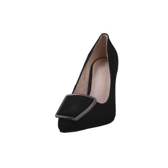 Туфлі жіночі Erisses Натуральна замша, колір чорний