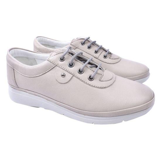 Туфлі комфорт жіночі Trio Trend натуральна шкіра, колір сірий