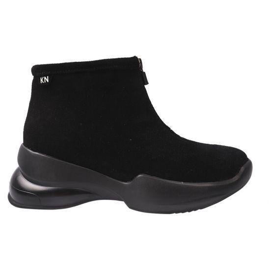 Кросівки жіночі Kento Натуральна замша, колір чорний
