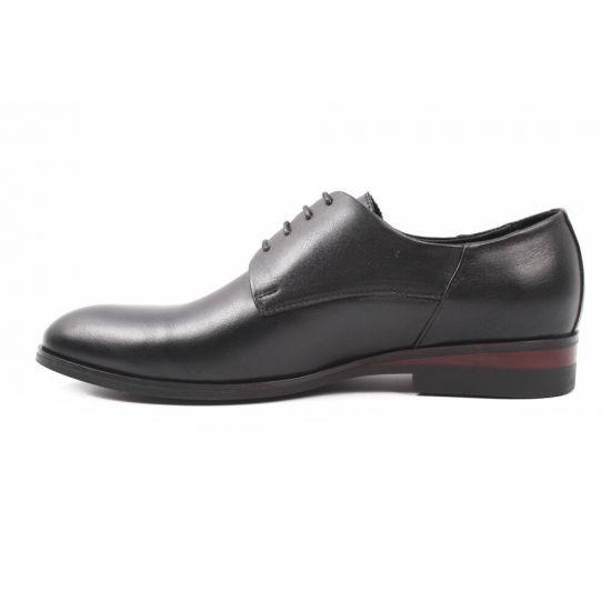Туфлі Davis натуральна шкіра, колір чорний