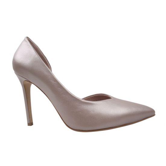 Туфлі на шпильці жіночі Aquamarin натуральна шкіра, колір перламутр