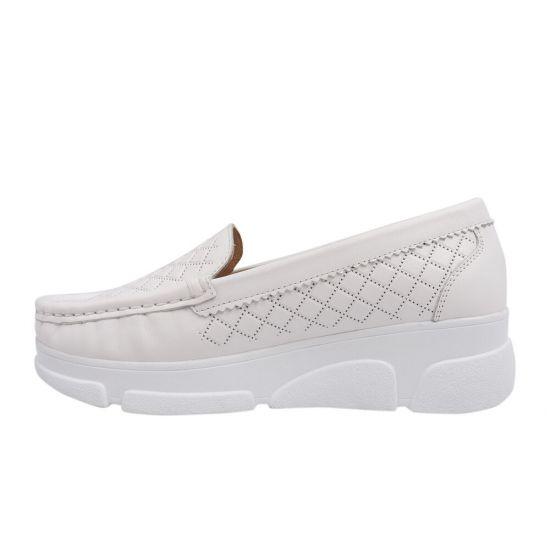 Туфлі жіночі з натуральної шкіри, на низькому ходу, білі, Туреччина Guero