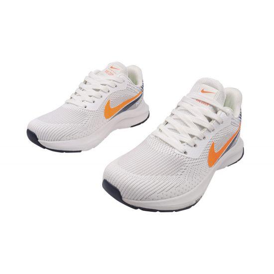 Кросівки чоловічі з текстилю, на низькому ходу, на шнурівці, колір білий, Nike