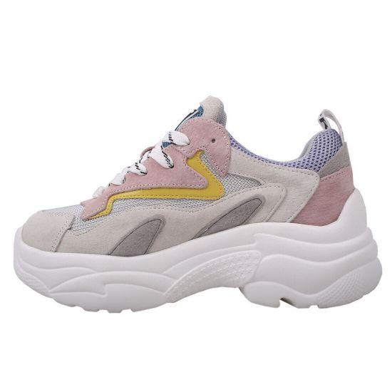 Кросівки жіночі з натуральної замші, на платформі, чорний, Farinni 11-9DK