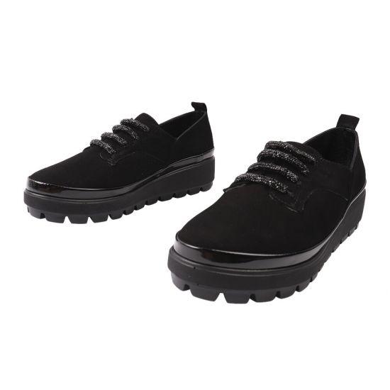 Туфлі комфорт жіночі Phany Натуральна замша, колір чорний