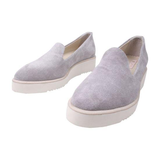 Туфлі жіночі Alpino Натуральна замша, колір сірий