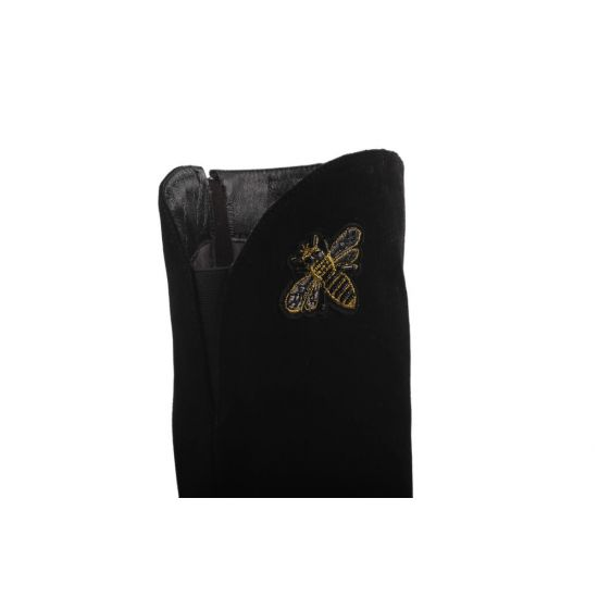 Ботфорти Brocoly Натуральна замша, колір чорний