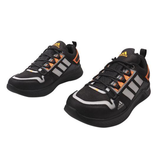 Кросівки чоловічі з натуральної шкіри (нубук), на низькому ходу, на шнурівці, колір чорний, MDK