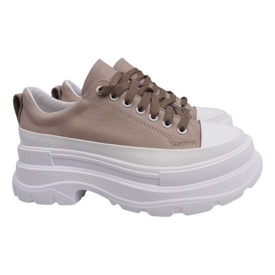 Туфлі комфорт жіночі Masheros натуральна шкіра, колір візон