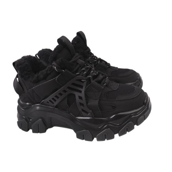 Кросівки жіночі Gifanni чорні нубук