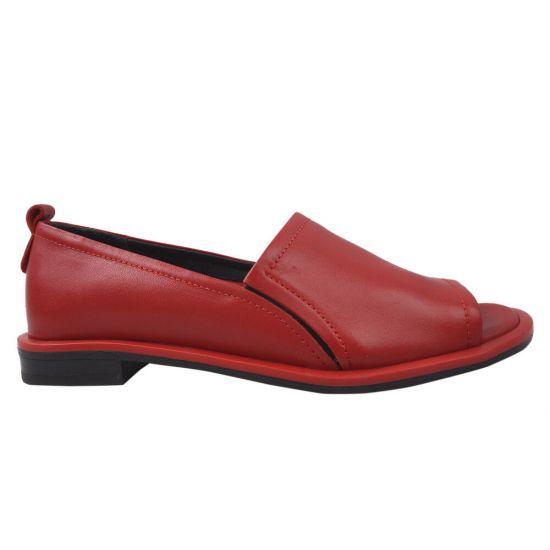 Туфлі жіночі New Diamond натуральна шкіра, колір червоний