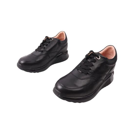 Кросівки жіночі Djovannia чорні натуральна шкіра 44-21DTS