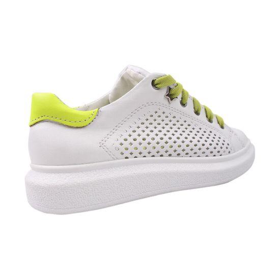 Кеди жіночі Maxus Shoes натуральна шкіра, колір білий