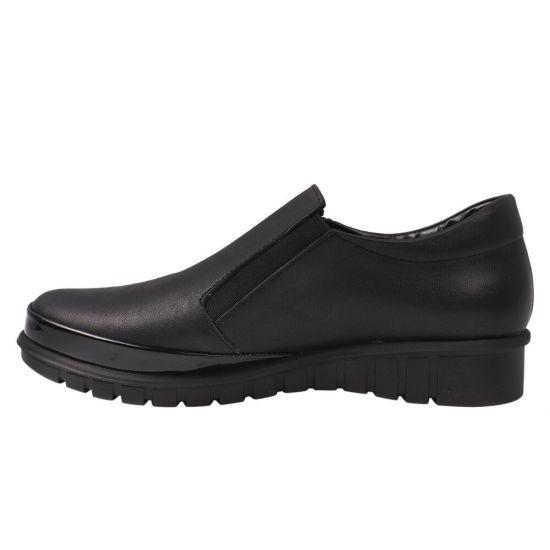 Туфлі жіночі з натуральної шкіри, на низькому ходу, чорні, Mario Muzi