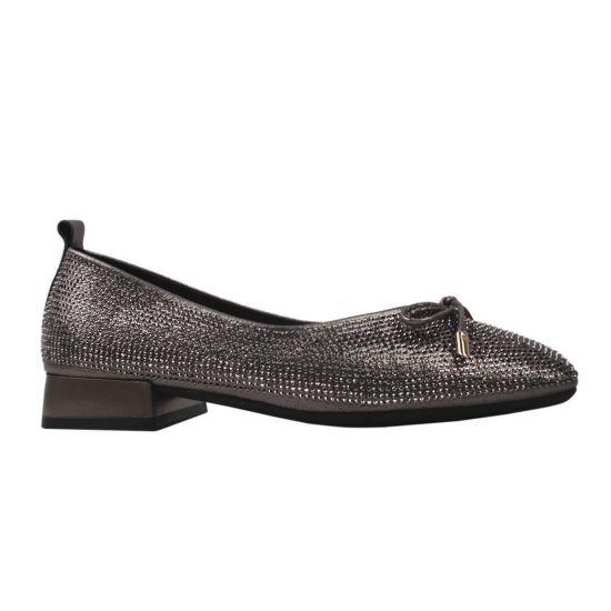 Туфлі жіночі Berkonty натуральна шкіра, колір сірий