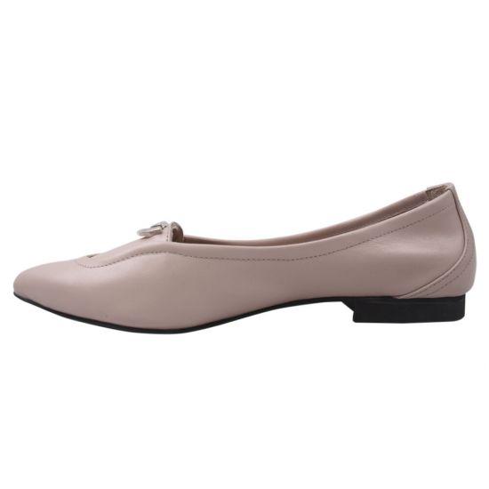 Туфлі жіночі Aquamarin натуральна шкіра, колір пудра