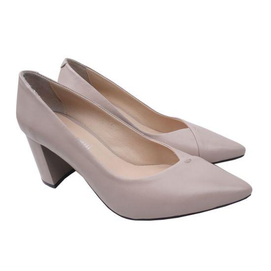 Туфлі на підборах жіночі натуральна шкіра, колір бежевий
