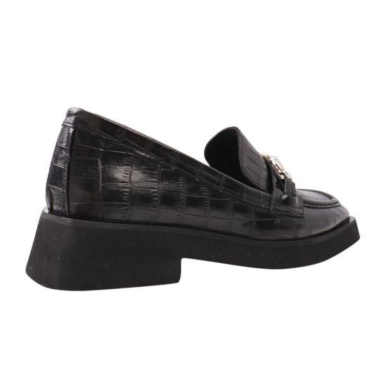 Туфлі жіночі з натуральної шкіри, на низькому ходу, чорні, Туреччина Aquamarin