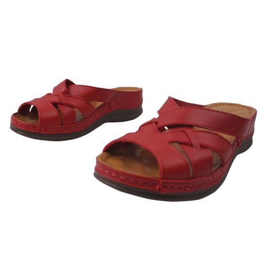 Туфлі жіночі Paloma натуральна шкіра, колір червоний